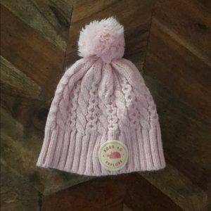 0-6 Months North Face Pom Pom Hat